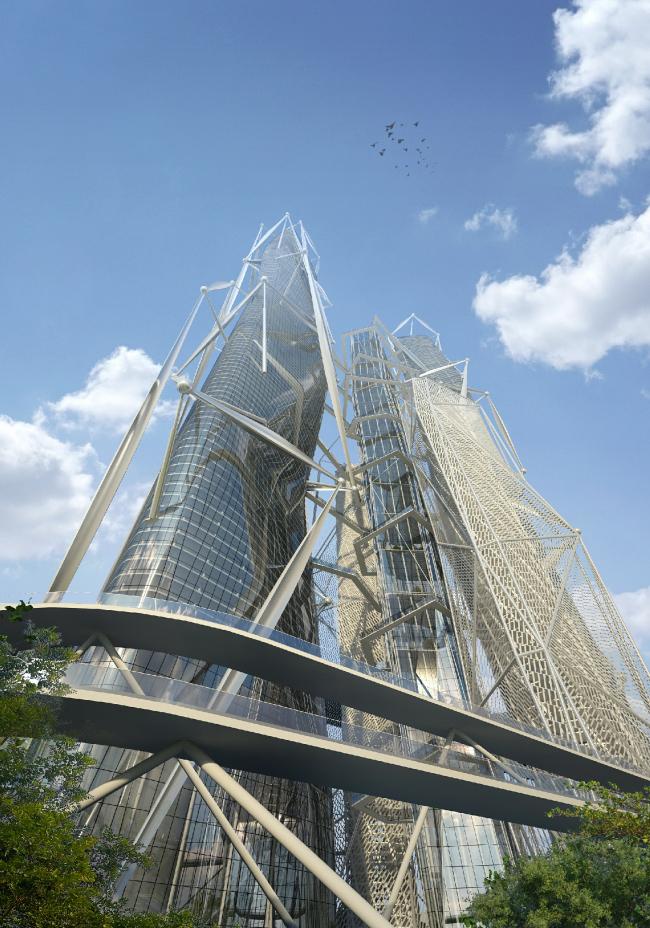 Проект небоскреба для конкурса Evolo-2016. Проект, 2016 © Arch group