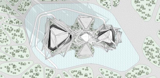 Проект небоскреба для конкурса Evolo-2016. Генеральный план © Arch group