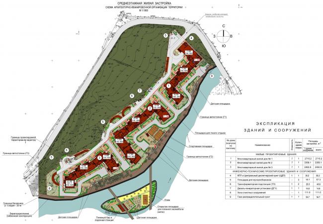 Жилой комплекс «Олимпийская деревня Новогорск. Курорт». Генеральный план © Архитектуриум