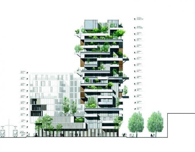 Жилой комплекс Hypérion © Jean-Paul Viguier et Associés