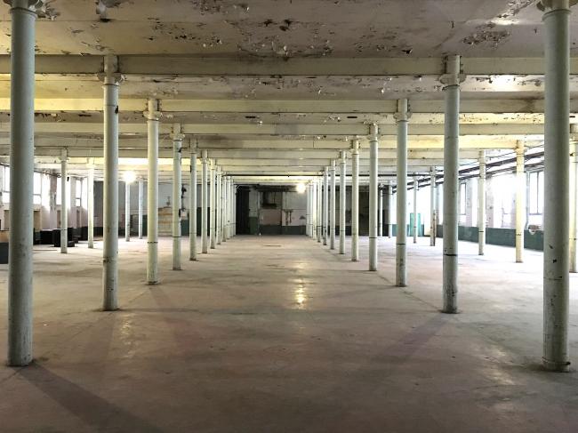 Трехгорная мануфактура. Интерьер залов в 5-м корпусе. Фотография из презентации Андрея Асадова