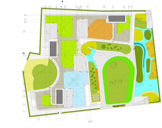 Детский сад в Малом Полуярославском пер. Генеральный план © Архитектурное бюро Асадова