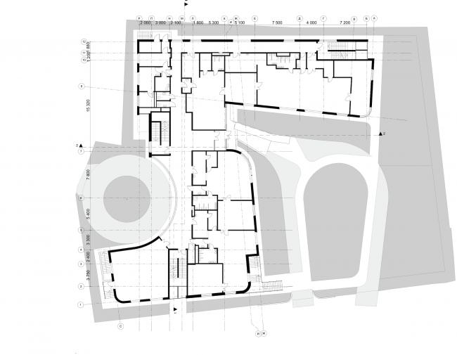 Nursery school in the Maly Poluyaroslavsky Alley. Plan of the 1st floor © Asadov Bureau