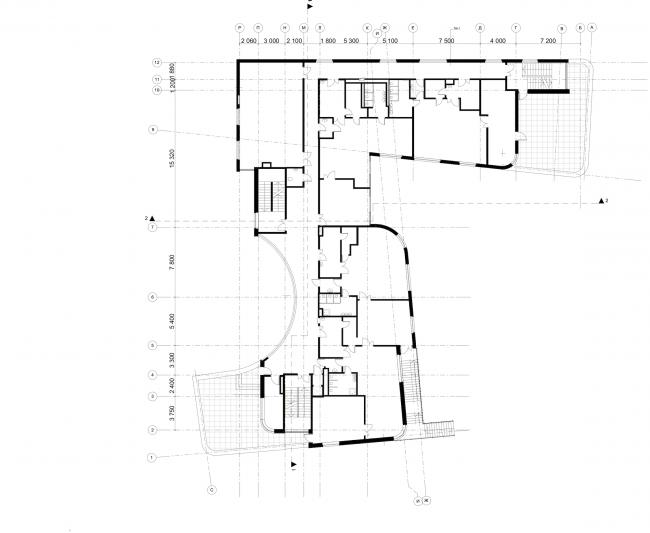 Nursery school in the Maly Poluyaroslavsky Alley. Plan of the 2nd floor © Asadov Bureau