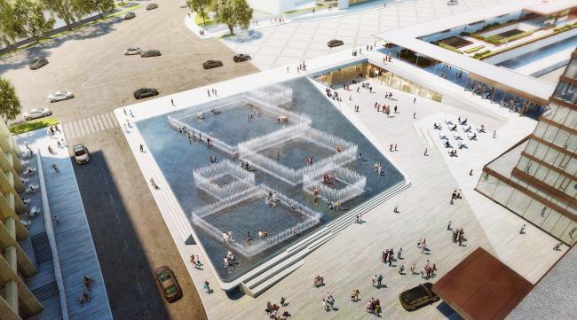 Общественная зона на площади Революции Роз © GRAFT GmbH