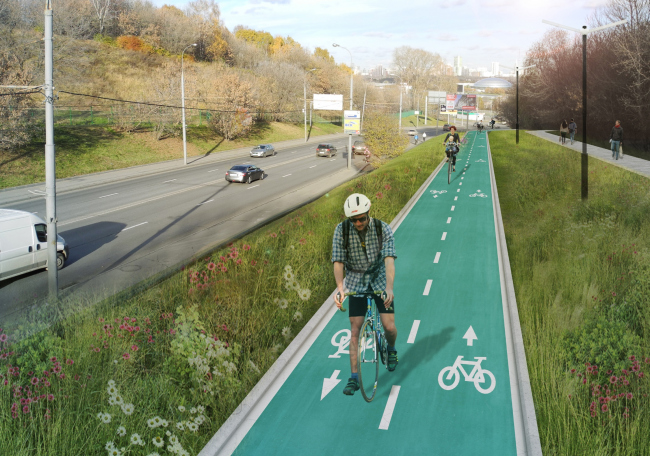 """""""Green Ring"""" bicycle route © Wowhaus, 2015"""
