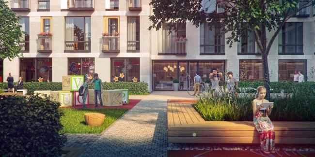 The housing project on the Malaya Ordynka Street. Organization of the yard © ADM