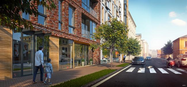 The housing project on the Malaya Ordynka Street. Organization of the street © ADM
