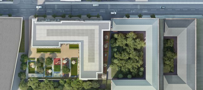 The housing project on the Malaya Ordynka Street. Masterplan