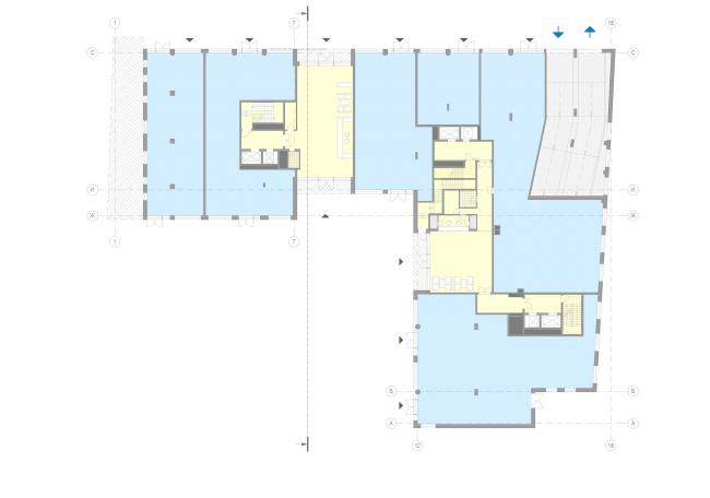 Жилой дом на Малой Ордынке. План 1 этажа © ADM