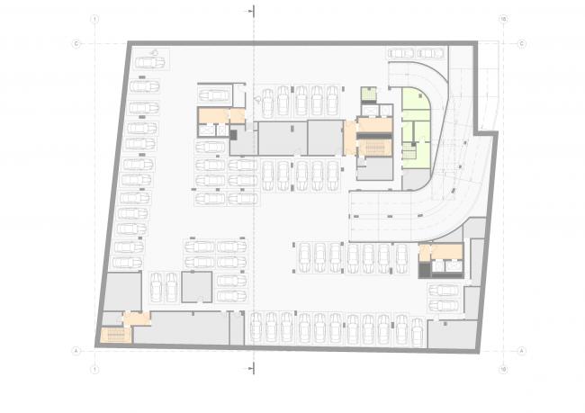 Жилой дом на Малой Ордынке. План -1 этажа © ADM