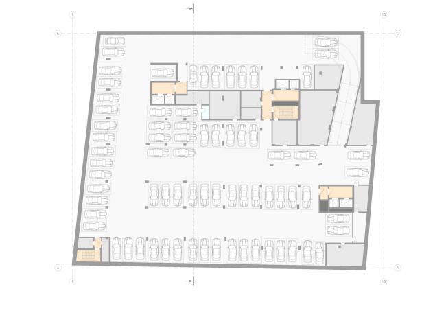 Жилой дом на Малой Ордынке. План -2 этажа © ADM