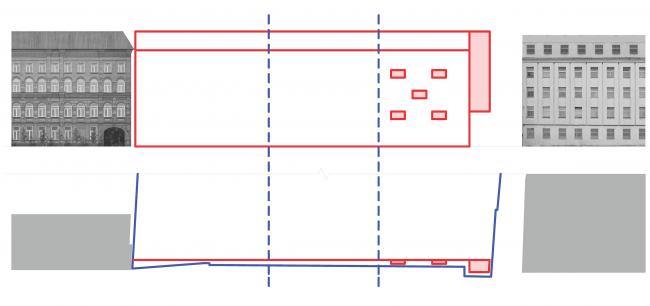 Жилой дом на Малой Ордынке. Схема © ADM
