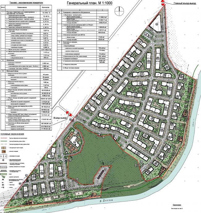 Жилой комплекс «Андерсен». Генеральный план, 2014 © Архитектуриум