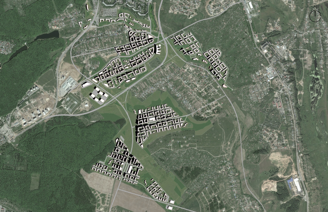 Концепция застройки территории в Нижнем Новгороде. 1 тур конкурса. Проект, 2014 © Архитектуриум