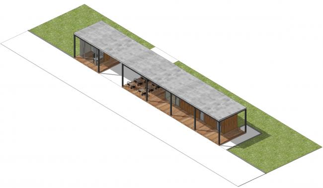Большая входная группа №2. Парк на Ходынском поле, проект 2015-2016 © Kleinewelt Architekten. Предоставлено ГКУ ОД «Мосгорпарк»