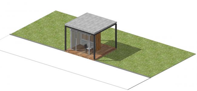 Малая входная группа №2. Парк на Ходынском поле, проект 2015-2016 © Kleinewelt Architekten. Предоставлено ГКУ ОД «Мосгорпарк»