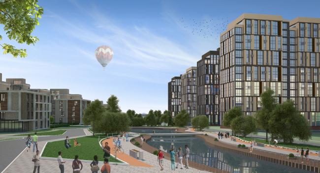 Town-planning concept in Nizhny Novgorod. 2nd contest round. Master plan. Project, 2014 © Arkhitekturium