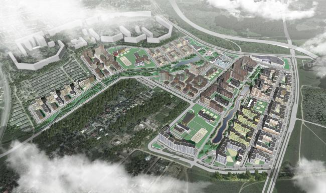 Концепция застройки территории в Нижнем Новгороде. 2 тур конкурса. Проект, 2015 © Архитектуриум