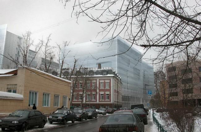 Деловой центр «Вивальди-плаза». Итоговый вариант. Встройка в окружающий городской ландшафт