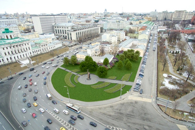 The project of organizing the Borovitskaya Square © Arteza. Image courtesy by the press service of Moscow City Architecture Committee