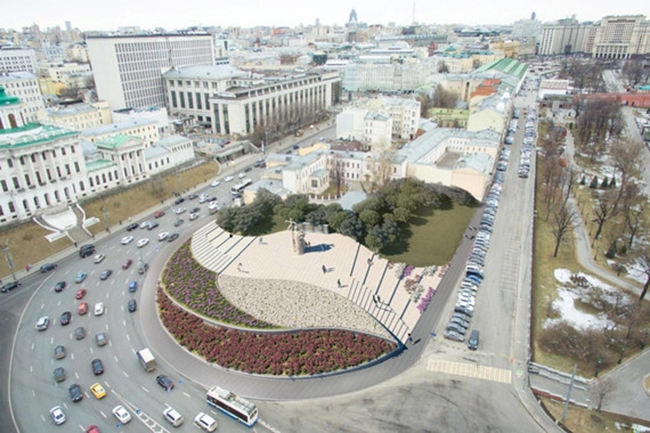 The project of organizing the Borovitskaya Square © Pride Creative Union. Image courtesy by the press service of Moscow City Architecture Committee