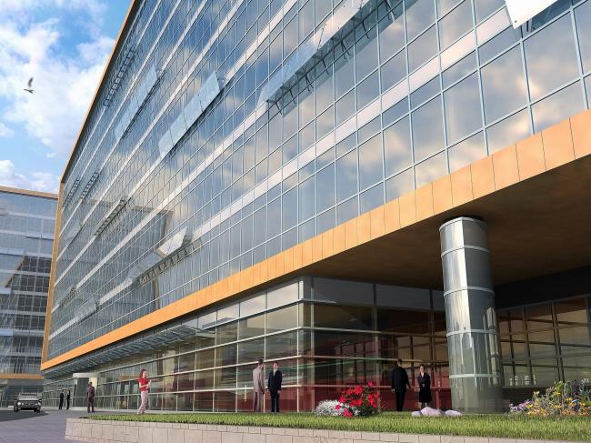 Административно-деловой центр на Рублево-Успенском шоссе, 2007 © Сергей Киселёв и Партнеры