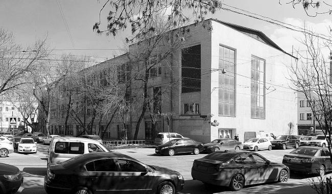 Reconstruction of the the former building of a communal kitchen (built in 1932) at the Novokuznetskaya Street, 2014 Kleinewelt Architekten. Photo © I. Ivanov