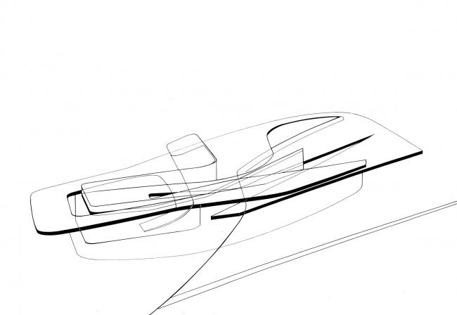 Морской терминал в Салерно © Zaha Hadid Architects