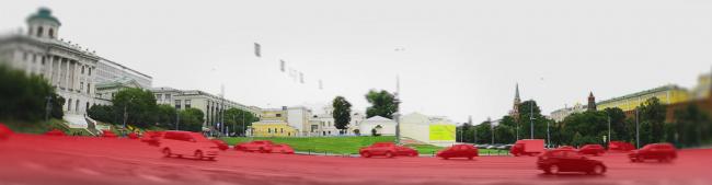 Проект реконструкции Боровицкой площади школы AFF. Существующее положение. Проект, 2014 © Школа AFF