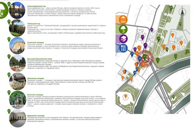 Проект реконструкции Боровицкой площади школы AFF. Функциональне зонирование. Проект, 2014 © Школа AFF