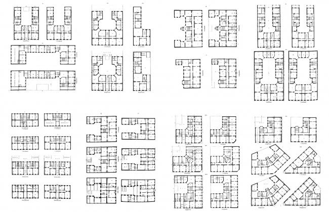 Типовые планы городских жилых домов Ассманна. Изображение предоставлено издательством «БуксМарт»