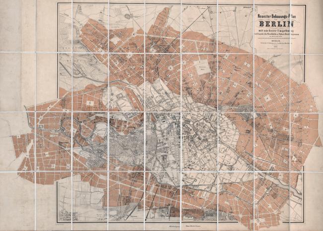 Проектный план градостроительного развития Берлина, так называемый план Хобрехта. Изображение предоставлено издательством «БуксМарт»