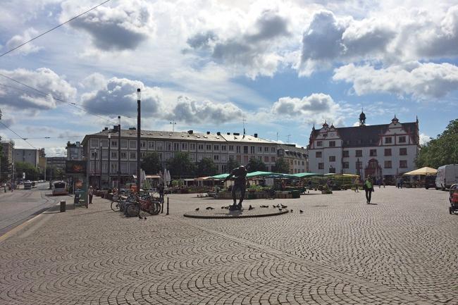 Центральная площадь Дармштадта. Фото предоставлено Марией Крыловой