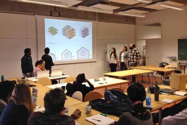Презентация проекта в группе учебной программы Mundus Urbano. Фото предоставлено Марией Крыловой