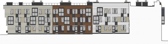 Жилой район Горки. Фасад. Проект, 2015 © ДНК аг