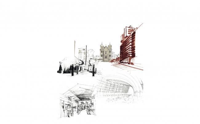 Улицы Порту, Португалия. Рисунок из презентации Иво Барроса