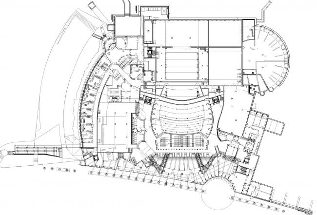 Опера и филармония Подляска. Европейский центр искусства в Белостоке. План нулевого уровня © Budzynski & Badowski