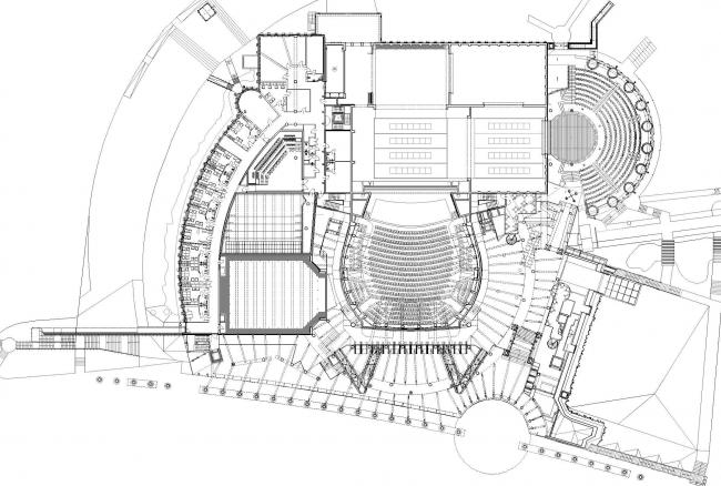 Опера и филармония Подляска. Европейский центр искусства в Белостоке. План второго уровня © Budzynski & Badowski
