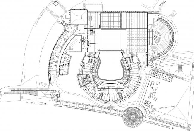 Опера и филармония Подляска. Европейский центр искусства в Белостоке. План третьего уровня © Budzynski & Badowski