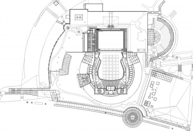 Опера и филармония Подляска. Европейский центр искусства в Белостоке. План крыши © Budzynski & Badowski