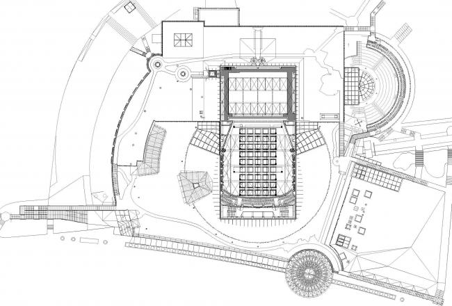 Опера и филармония Подляска. Европейский центр искусства в Белостоке. План верхнего сада © Budzynski & Badowski