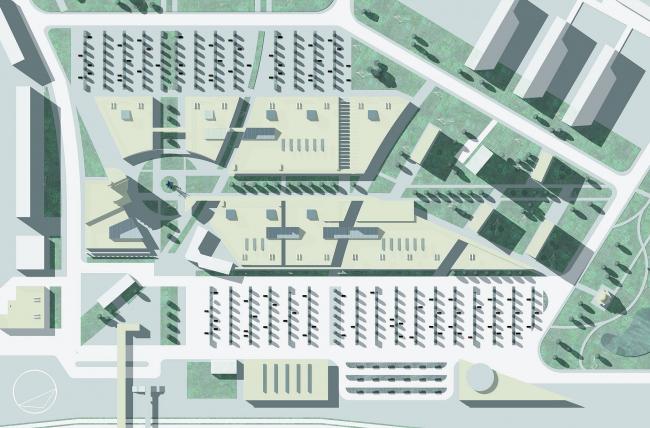 Реконструкция привокзальных площадей, г. Мытищи © Архитектурное бюро Асадова