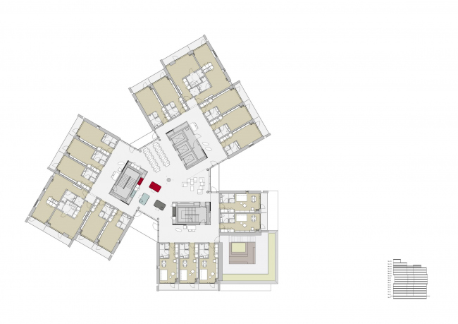 Campus Hall – студенческое общежитие Университета Южной Дании © C.F. Møller
