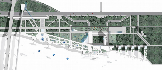Реконструкция территории речного вокзала, г. Новосибирск © Архитектурное бюро Асадова