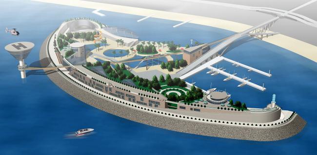 Искусственный остров «Югра», г. Туапсе © Архитектурное бюро Асадова
