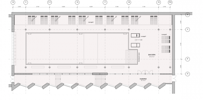 Multifunctional residential complex in Ekaterinburg. Plan of the pool. Project, 2016 © T+T Architects