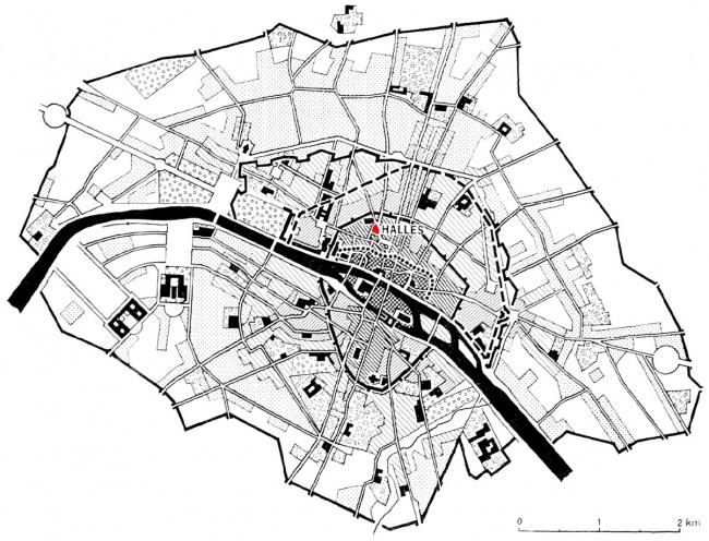 Ле-Аль в Париже XVIII в.