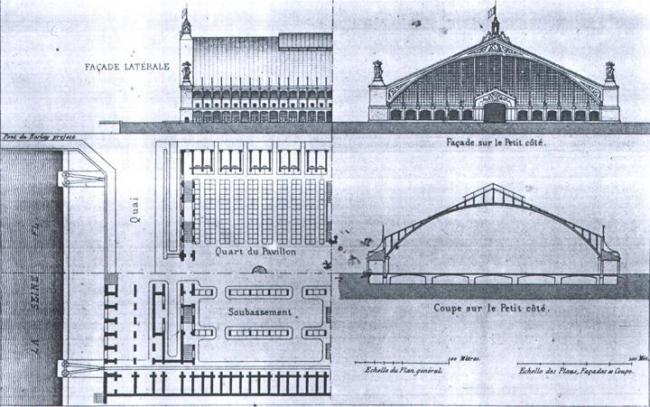 Центральный рынок. Новаторский проект инж. Э. Оро. 1845 г.