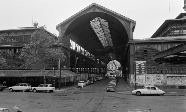 Ле-Аль. Центральный рынок закрыт, но павильоны ещё не снесены. Фото нач. 1970-х гг.